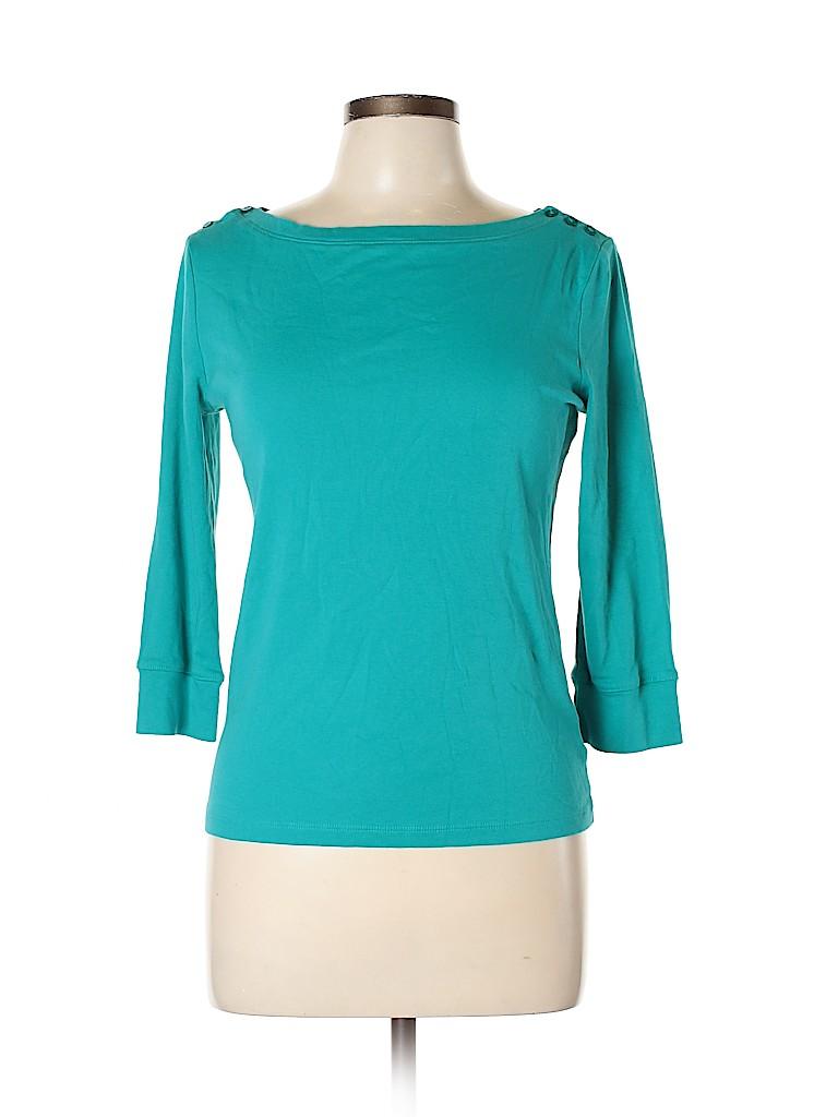 Jones New York Signature Women 3/4 Sleeve Top Size M