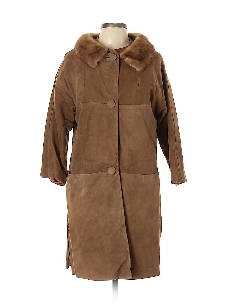 Unbranded Women Faux Leather Jacket Size 10