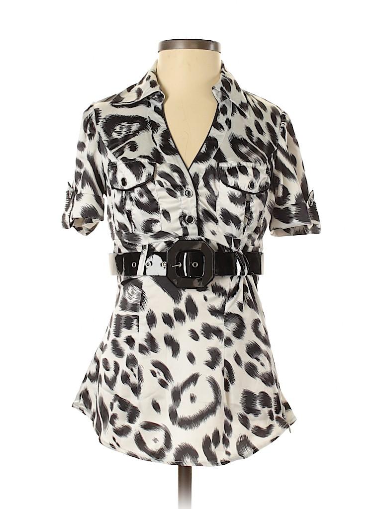 Heart Soul Women Short Sleeve Blouse Size XS