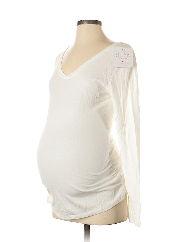 Isabel Maternity Women Long Sleeve T-Shirt Size S (Maternity)