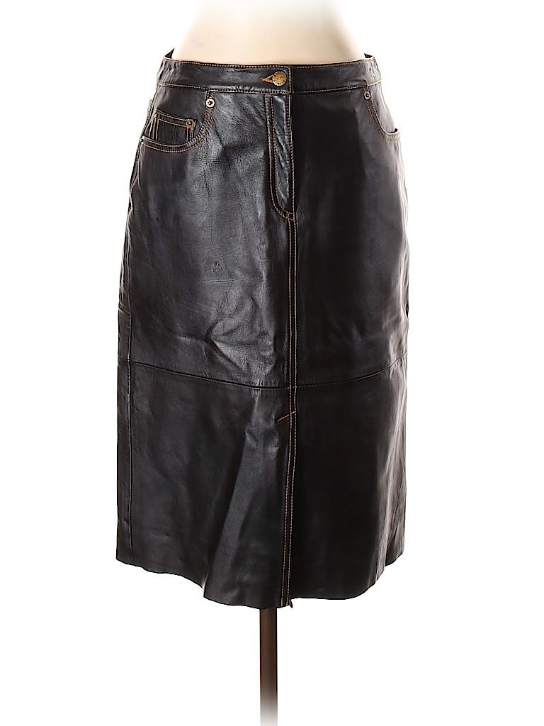 BCBGMAXAZRIA Women Leather Skirt Size 4
