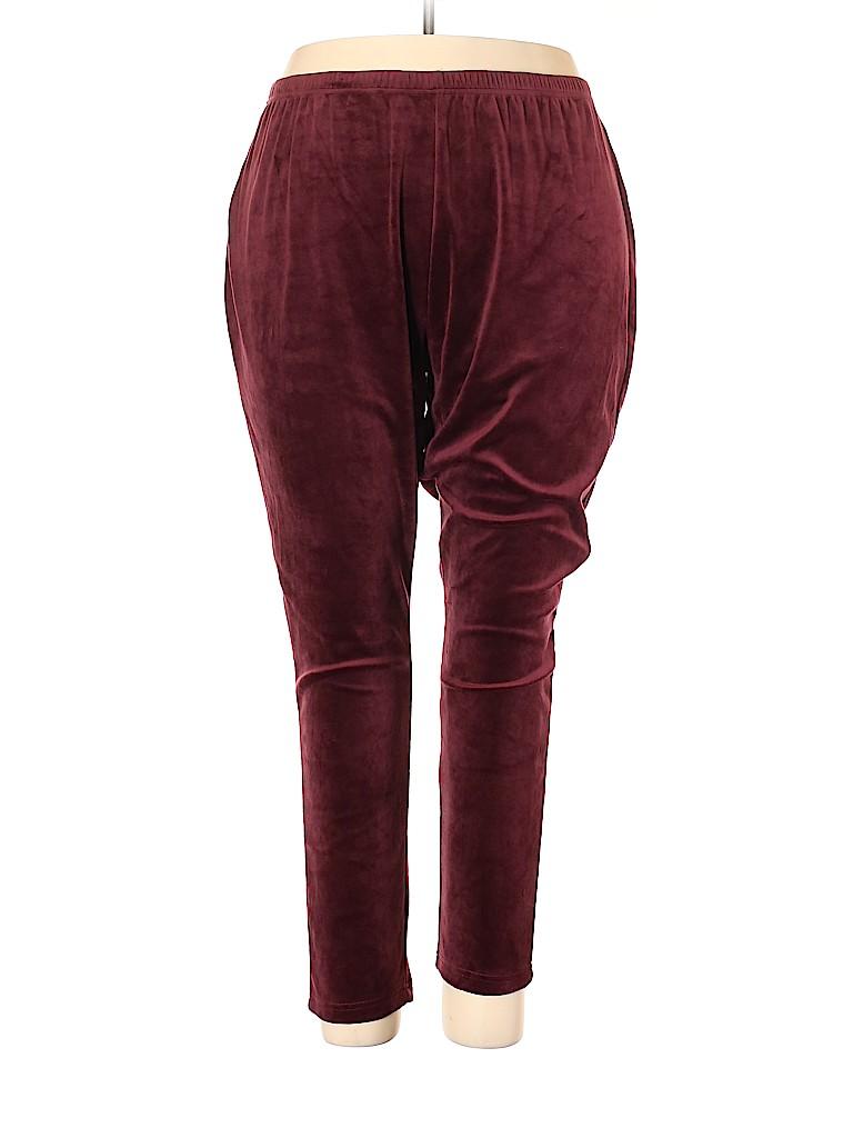 Woman Within Women Velour Pants Size 26 (2X) (Plus)