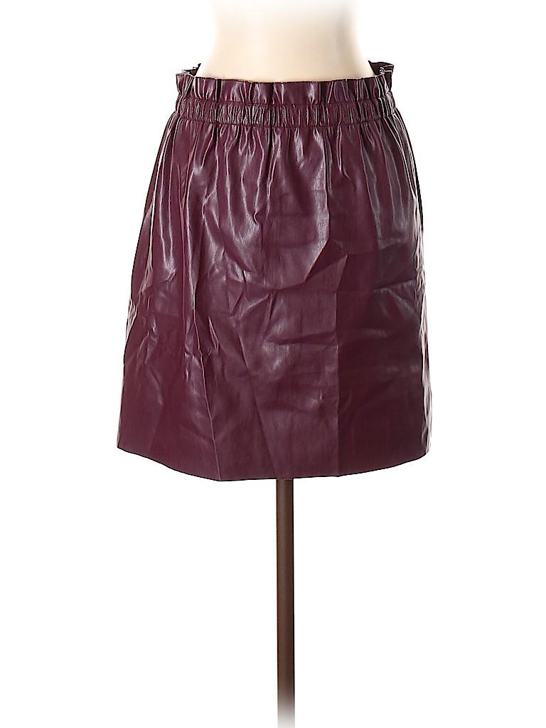 Ann Taylor LOFT Women Faux Leather Skirt Size S