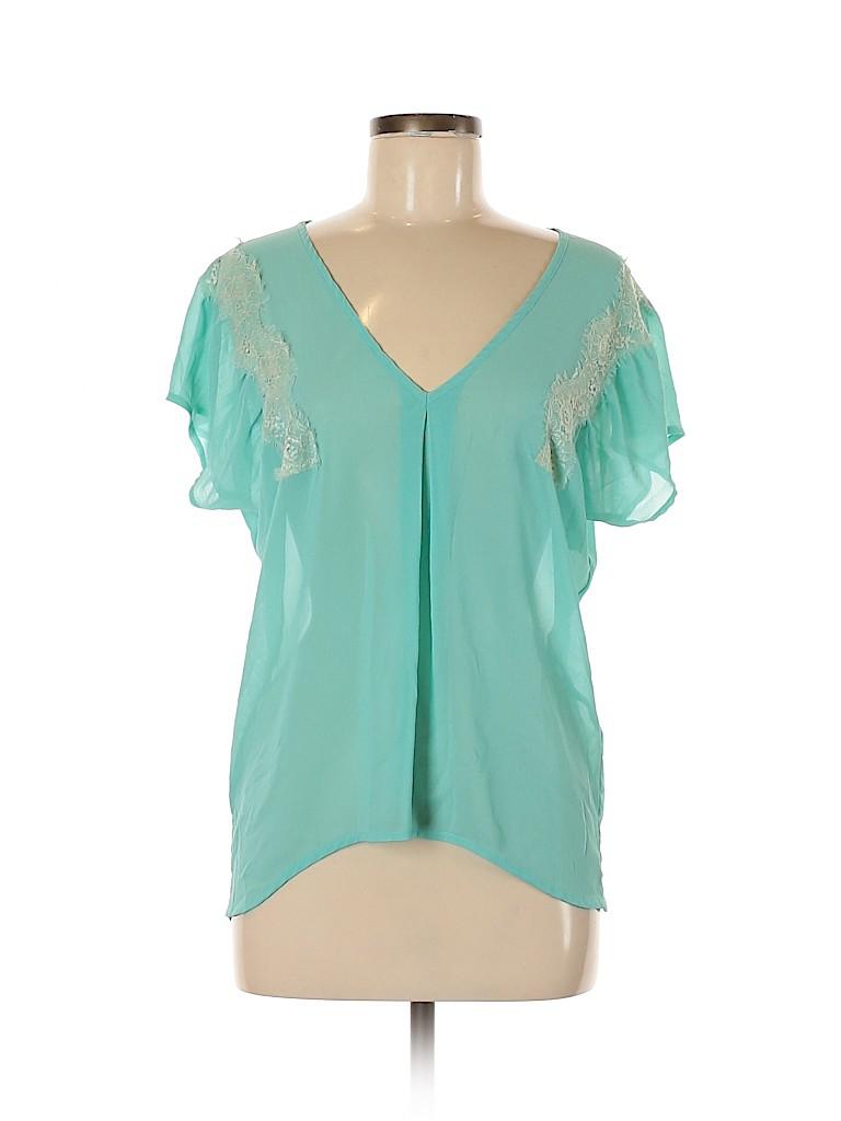 Daytrip Women Short Sleeve Blouse Size M