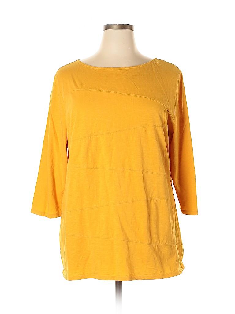 St. John's Bay Women 3/4 Sleeve Top Size 1X (Plus)