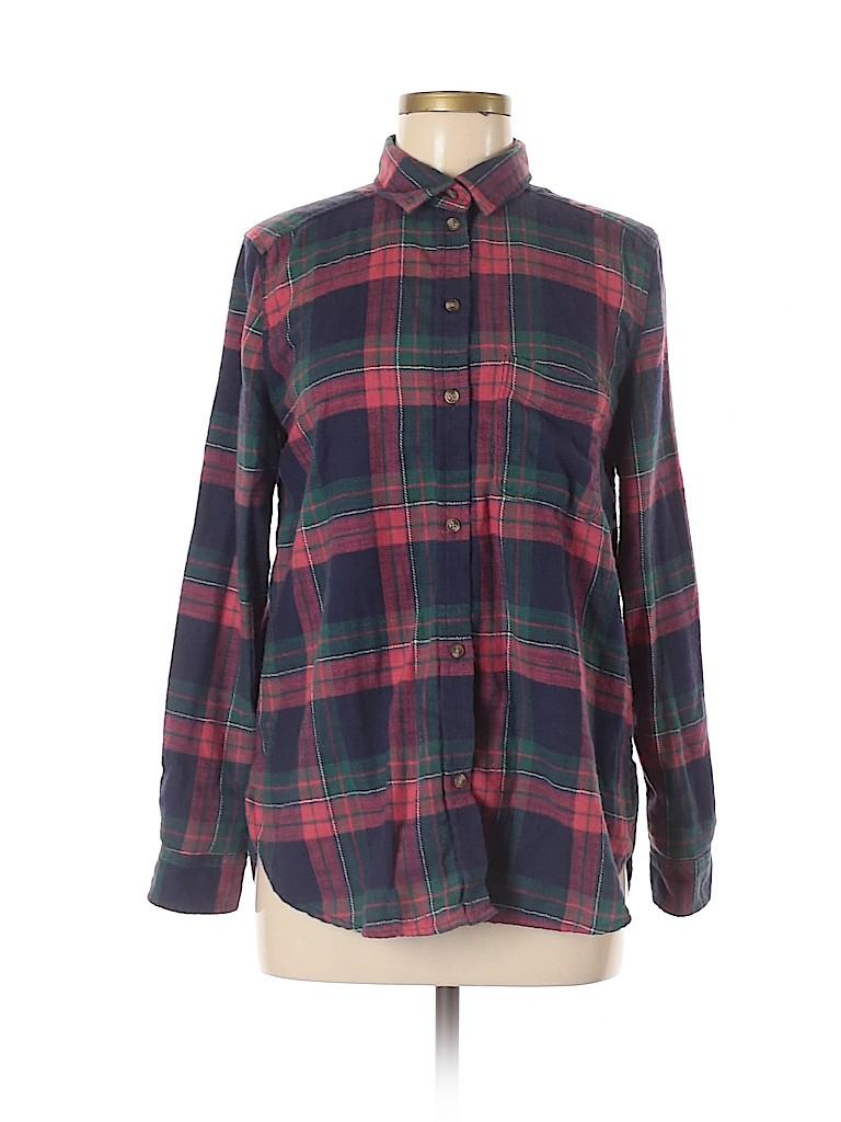 Ann Taylor Women Long Sleeve Button-Down Shirt Size M