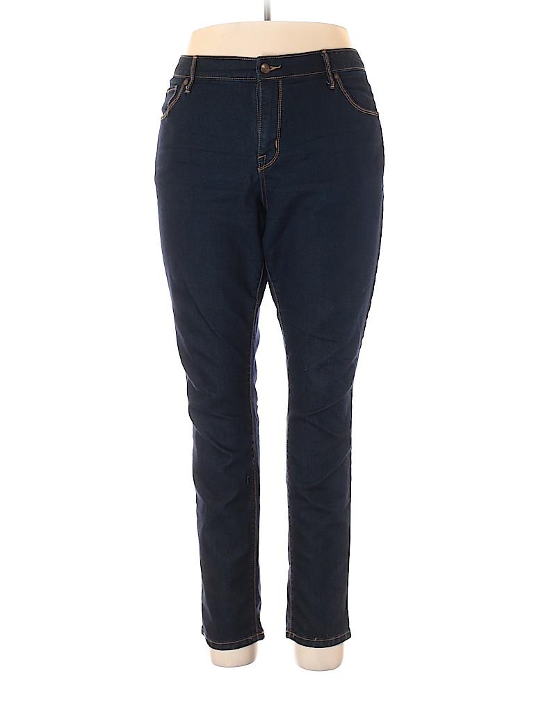 Ava & Viv Women Jeans Size 18 (Plus)