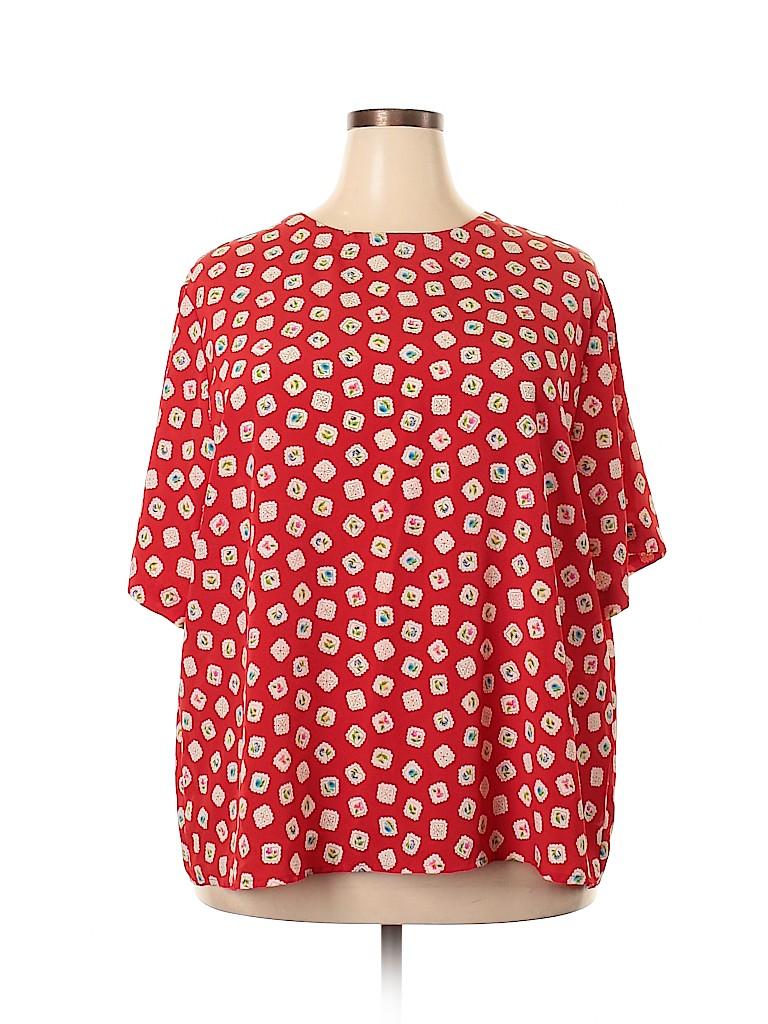 Silhoutte Women Short Sleeve Blouse Size 28 (Plus)