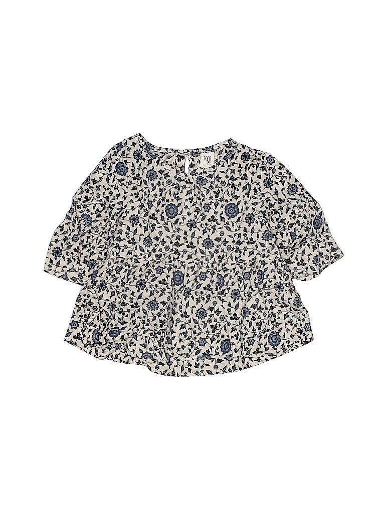 Baby Gap Girls 3/4 Sleeve Blouse Size 2T
