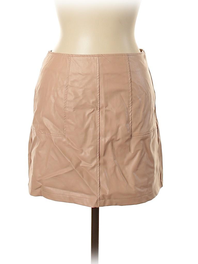 Showpo Women Faux Leather Skirt Size 12