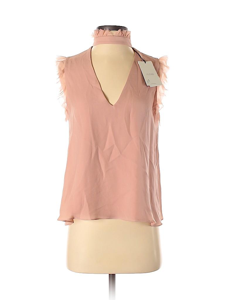 Alexis Women Sleeveless Silk Top Size XS