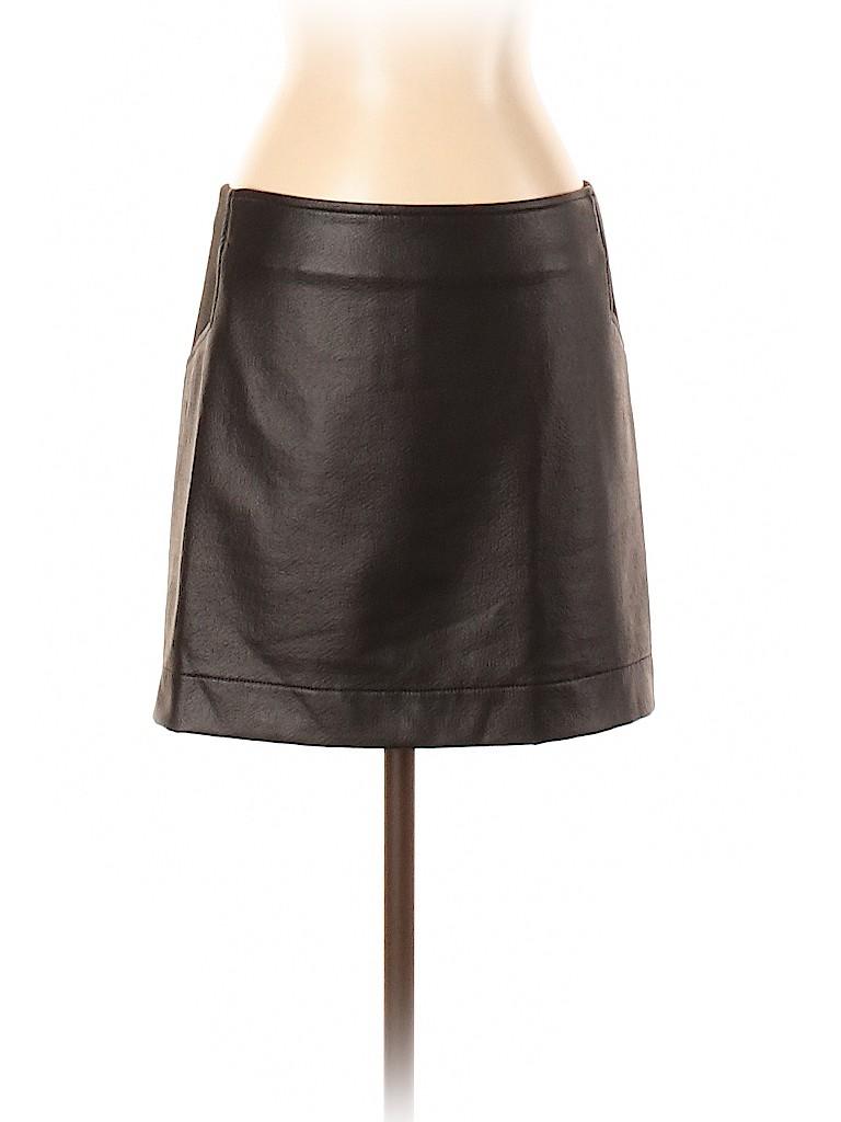 BCBGMAXAZRIA Women Faux Leather Skirt Size S