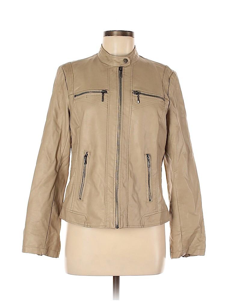 DressBarn Women Faux Leather Jacket Size M