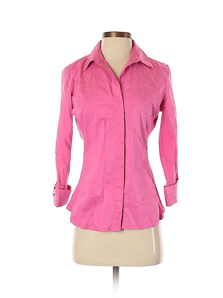 Zac & Rachel Women Long Sleeve Button-Down Shirt Size S