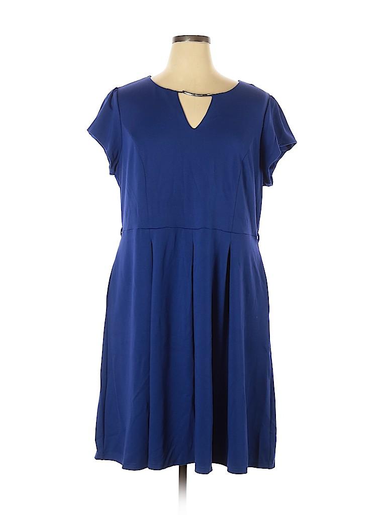 City Chic Women Casual Dress Size 20 Plus (L) (Plus)