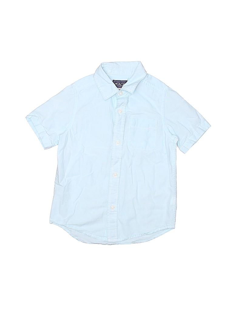 The Children's Place Boys Short Sleeve Button-Down Shirt Size 6