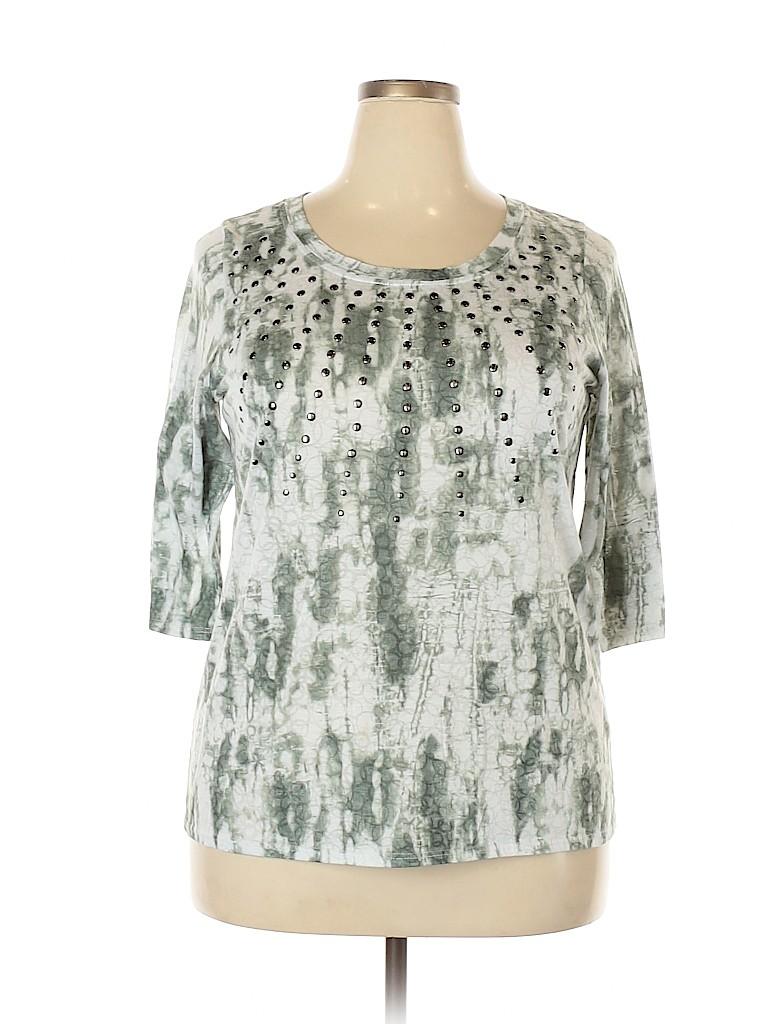 DressBarn Women 3/4 Sleeve Top Size 2X (Plus)