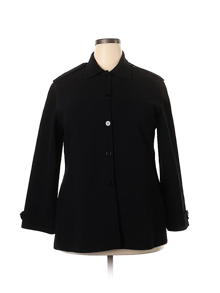 Linda Allard Ellen Tracy Women Wool Cardigan Size 16