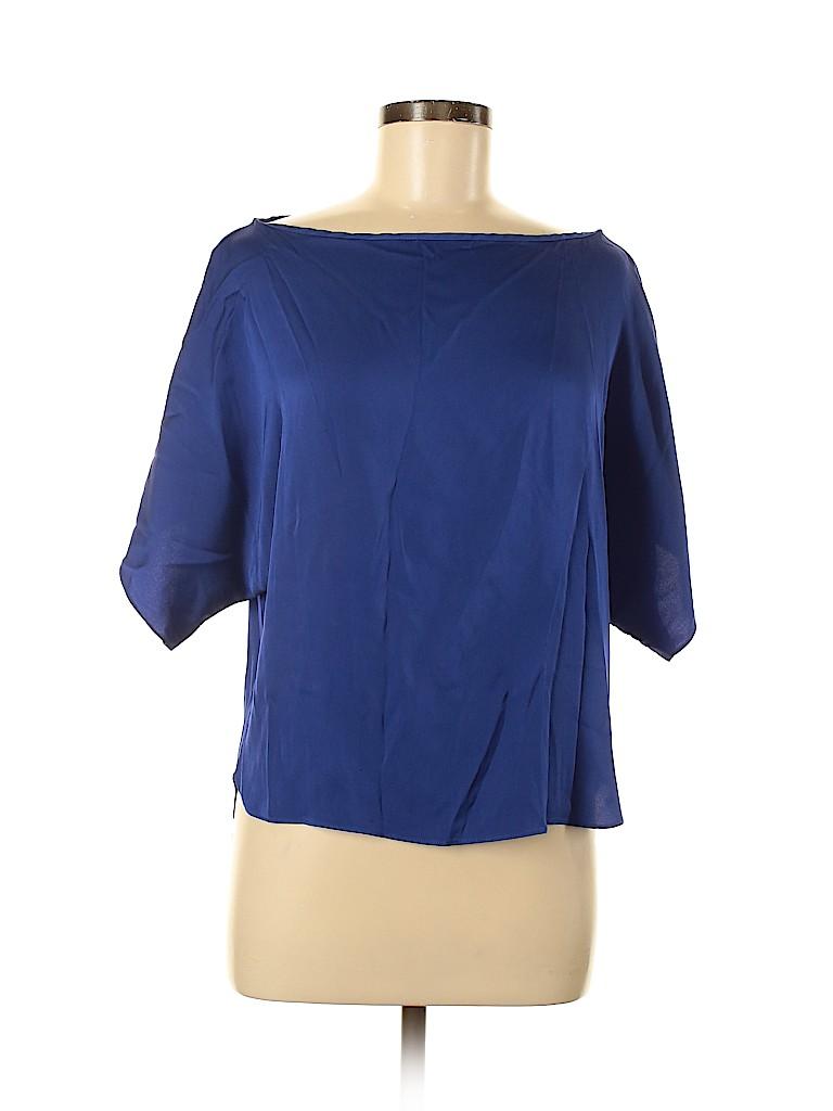 An original MILLY of New York Women Short Sleeve Silk Top Size 6