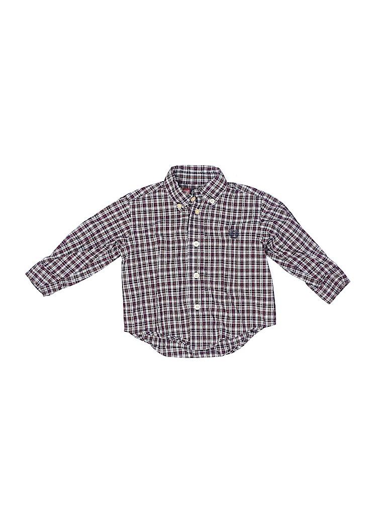 Chaps Boys Long Sleeve Button-Down Shirt Size 12 mo