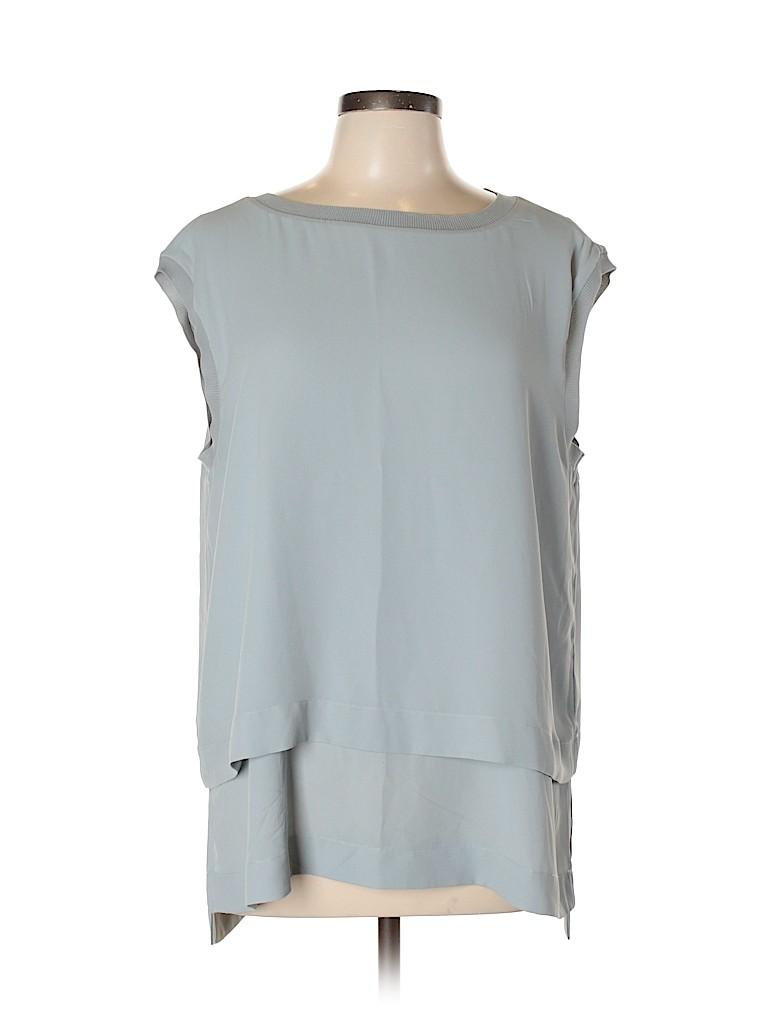 Banana Republic Women Short Sleeve Blouse Size L