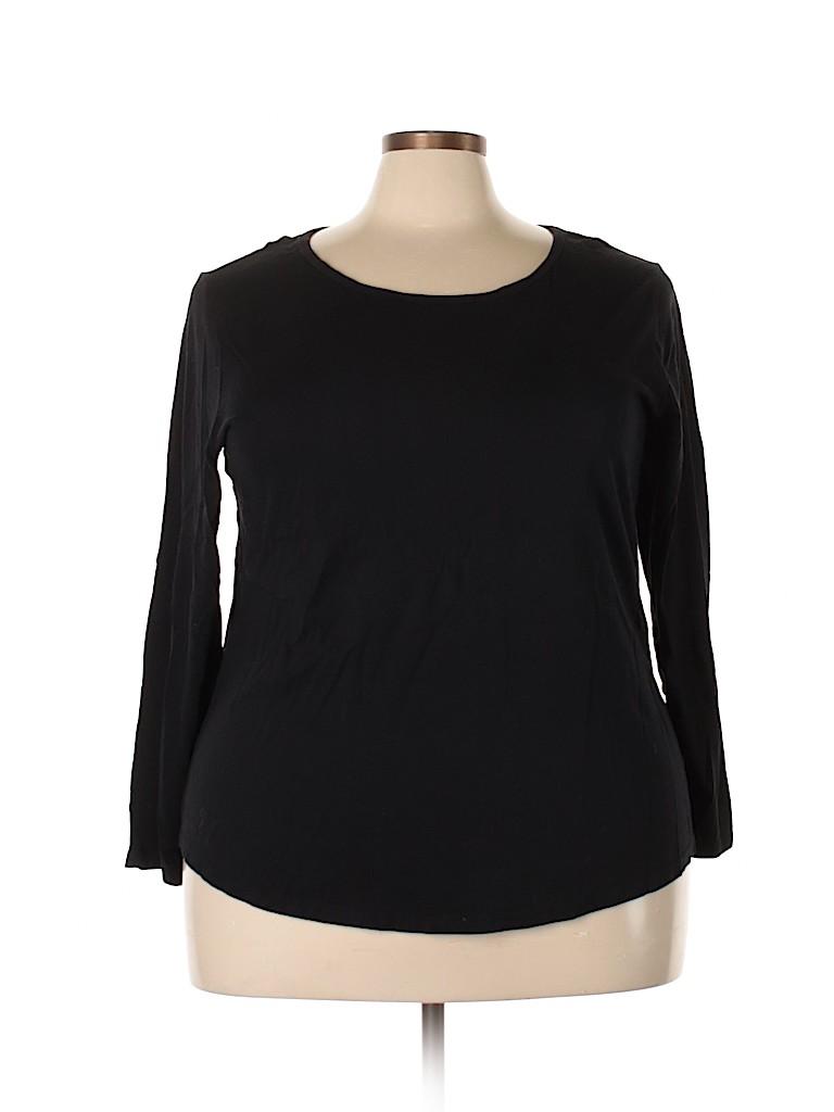 DressBarn Women Long Sleeve T-Shirt Size 3X (Plus)