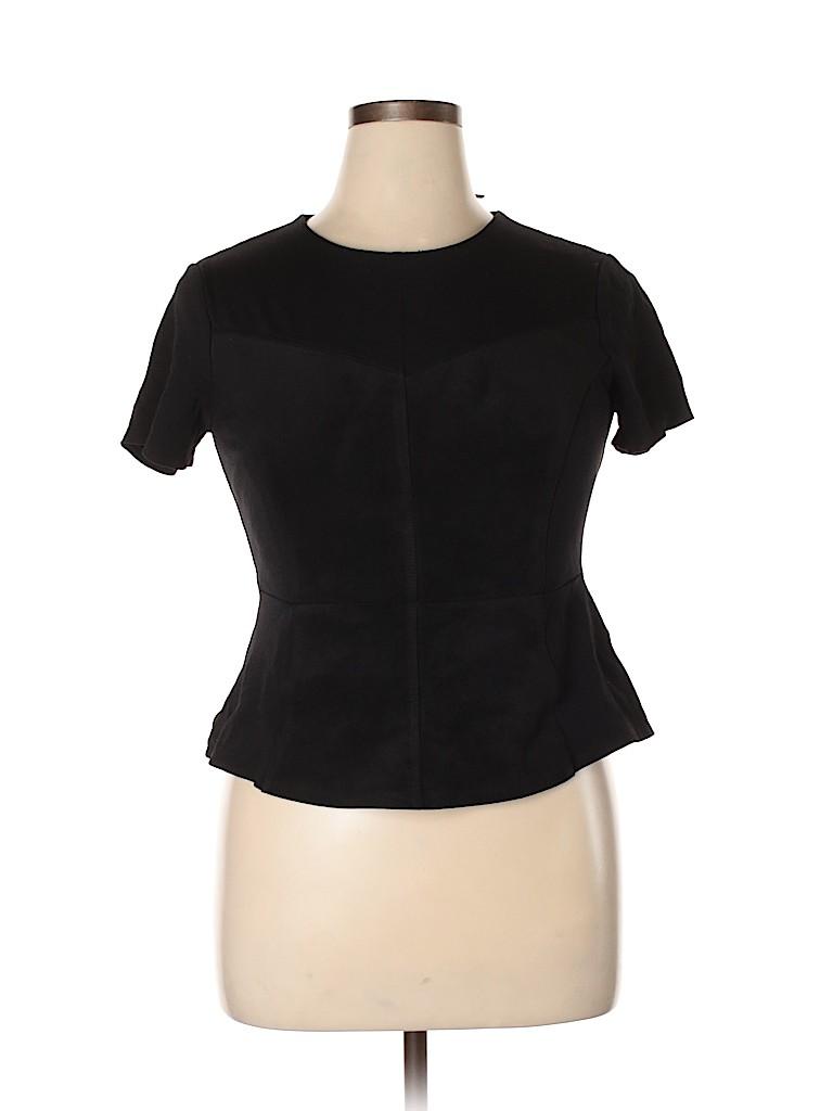 BCBGMAXAZRIA Women Short Sleeve Blouse Size L
