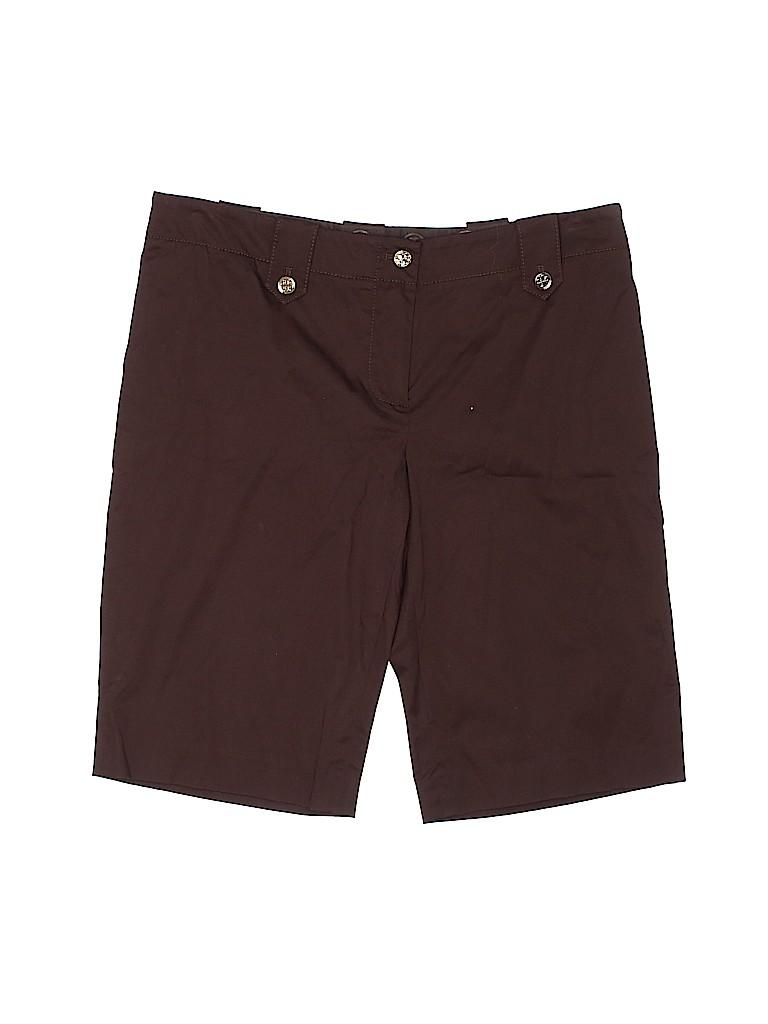 Tory Burch Women Khaki Shorts Size 10