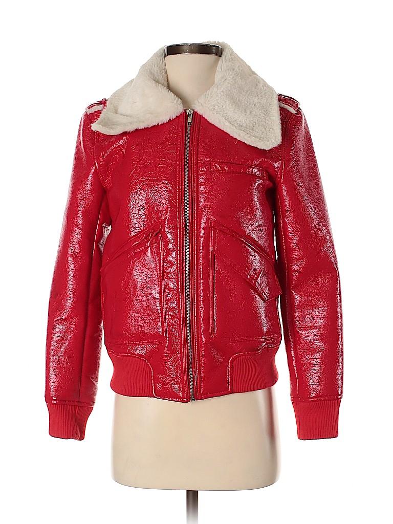 Belle Vere Women Faux Leather Jacket Size S
