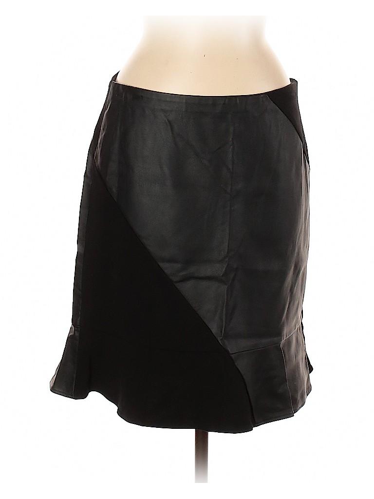 Ann Taylor Women Faux Leather Skirt Size 8