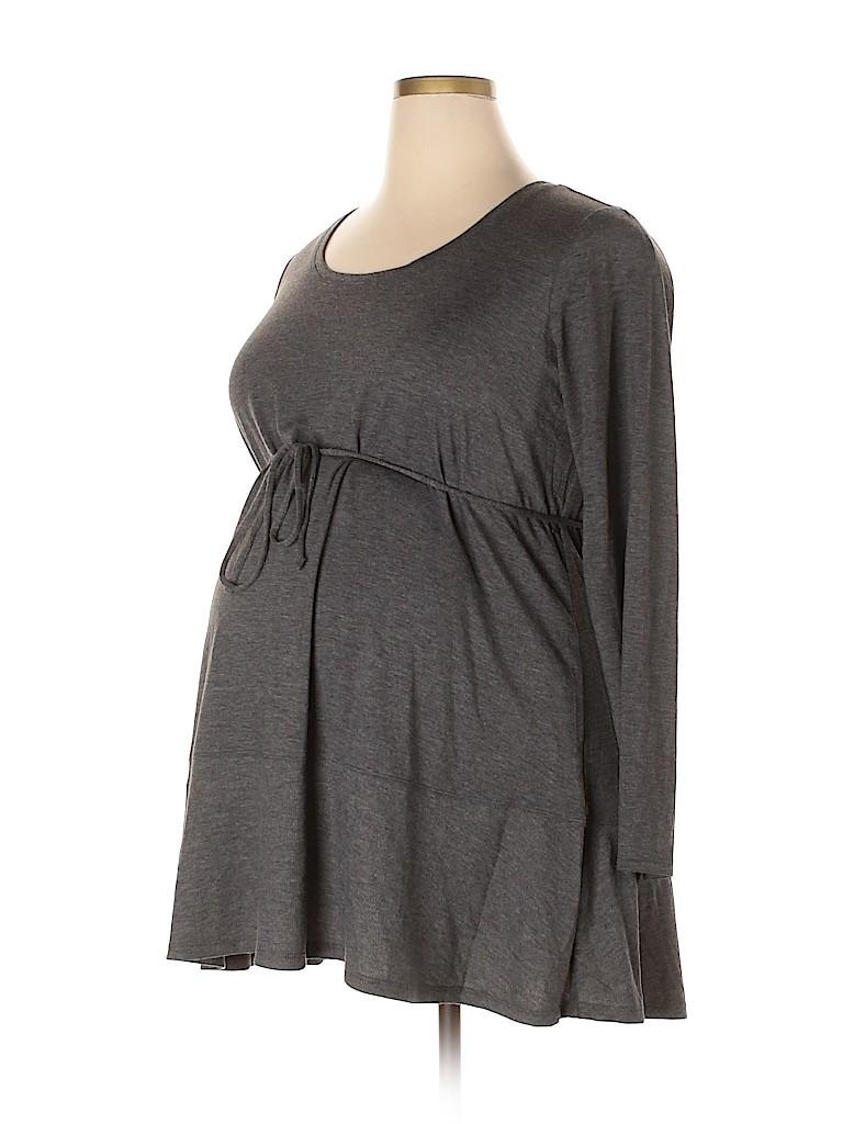 Motherhood Women Long Sleeve Top Size 1X (Maternity)