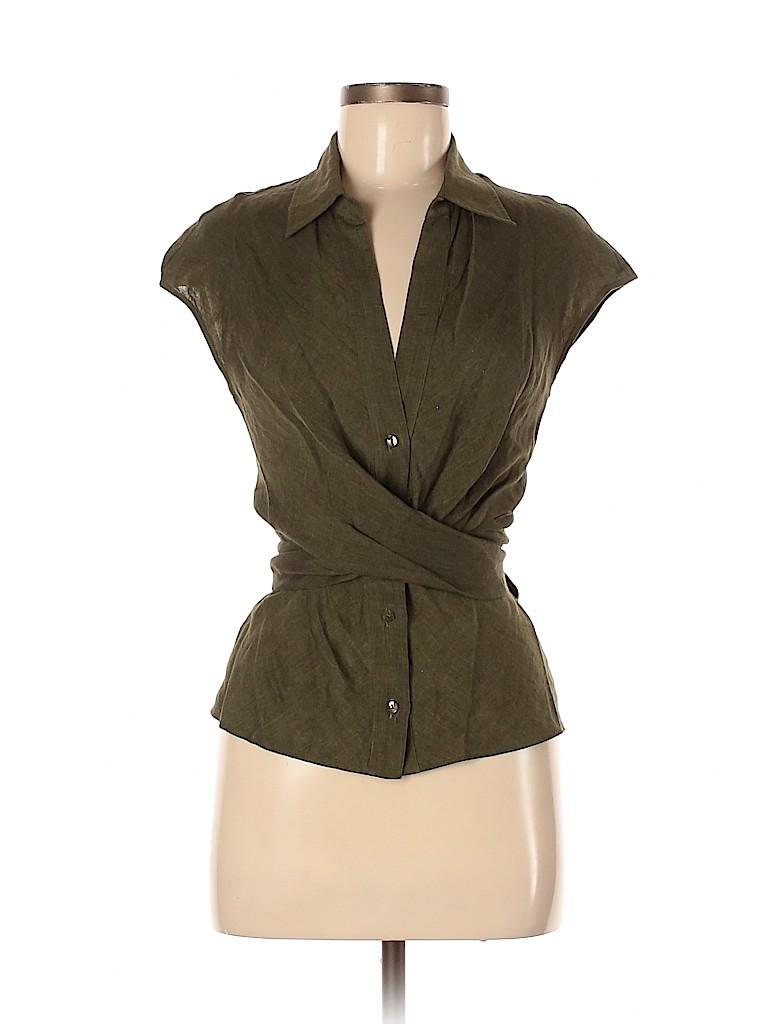 Max Mara Women Short Sleeve Button-Down Shirt Size M