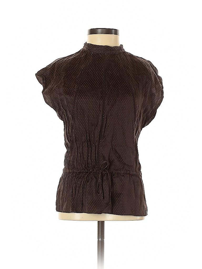 Kenneth Cole New York Women Short Sleeve Silk Top Size 2
