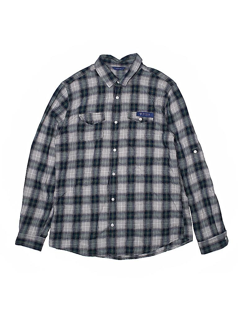Guess Boys Long Sleeve Button-Down Shirt Size 14