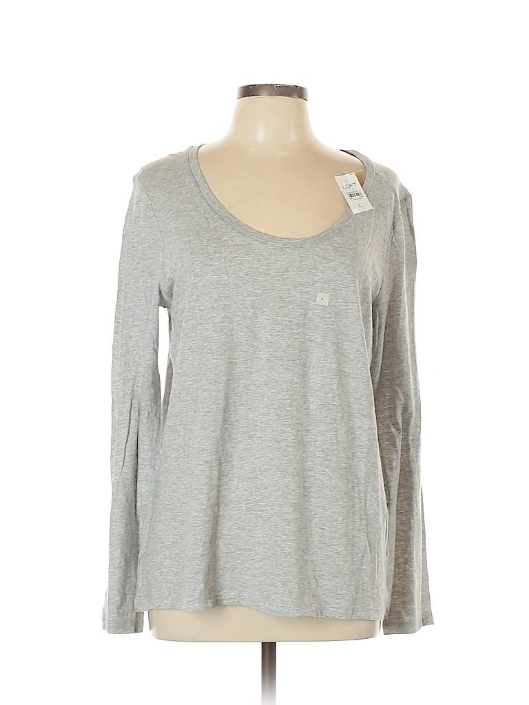 Ann Taylor LOFT Outlet Women Long Sleeve T-Shirt Size L