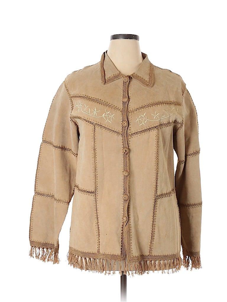 DressBarn Women Leather Jacket Size XL