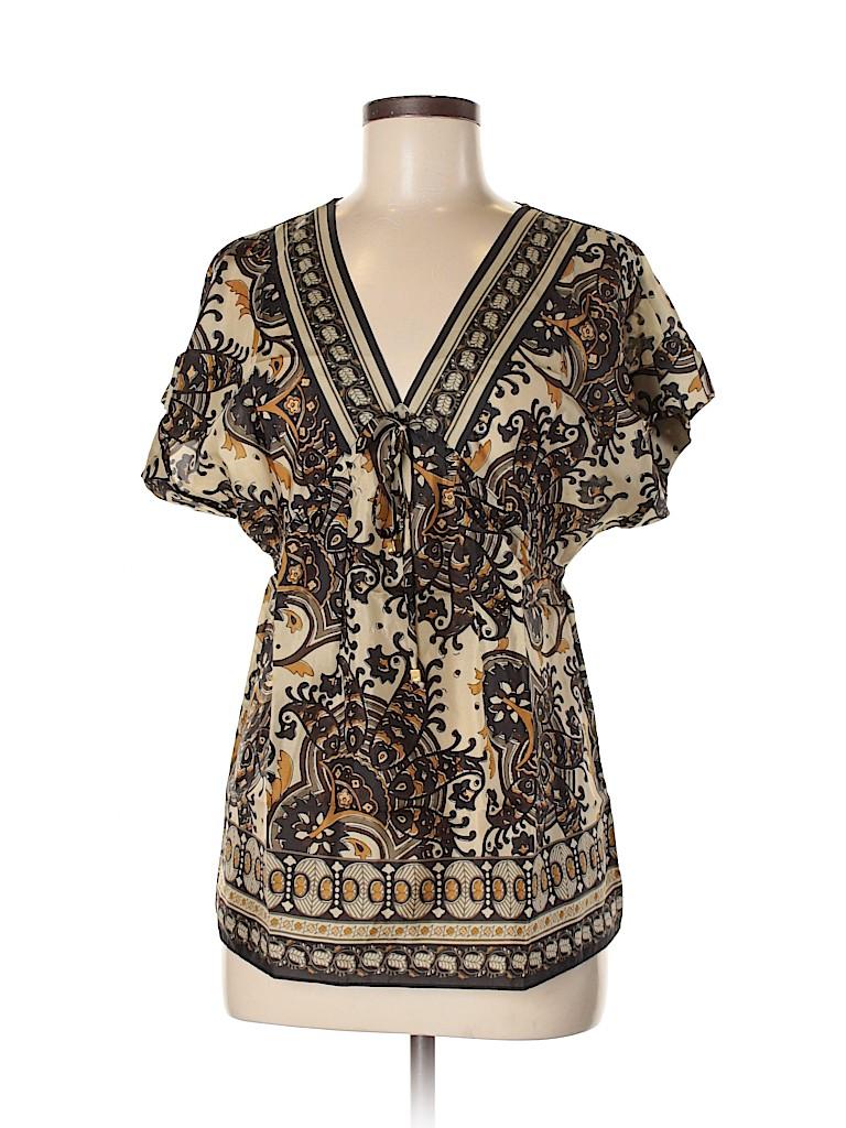 MICHAEL Michael Kors Women Short Sleeve Silk Top Size S