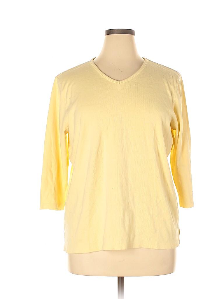 Liz Claiborne Women 3/4 Sleeve Top Size 2X (Plus)