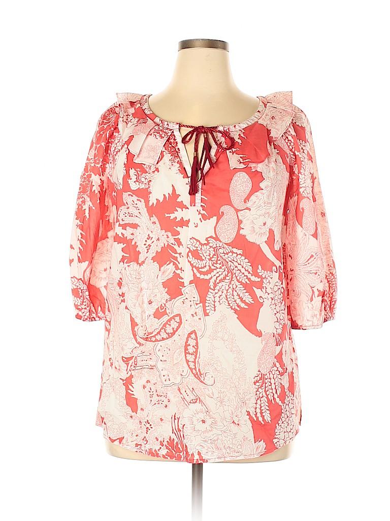 Etcetera Women 3/4 Sleeve Blouse Size 12