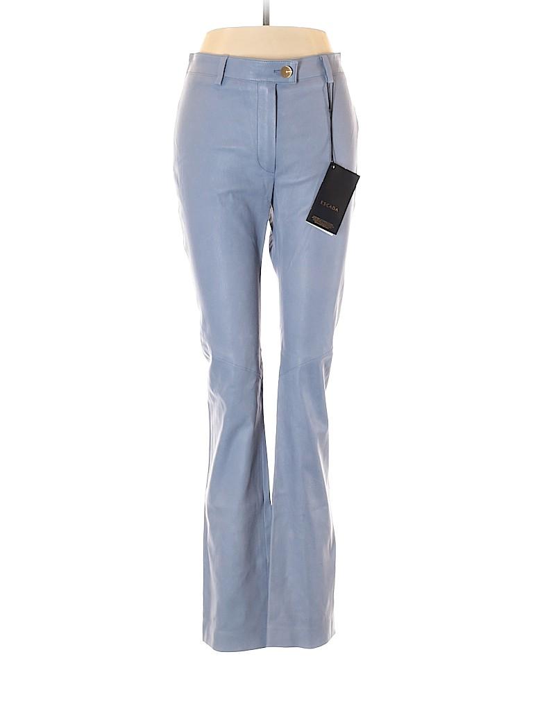 Escada Women Leather Pants Size M