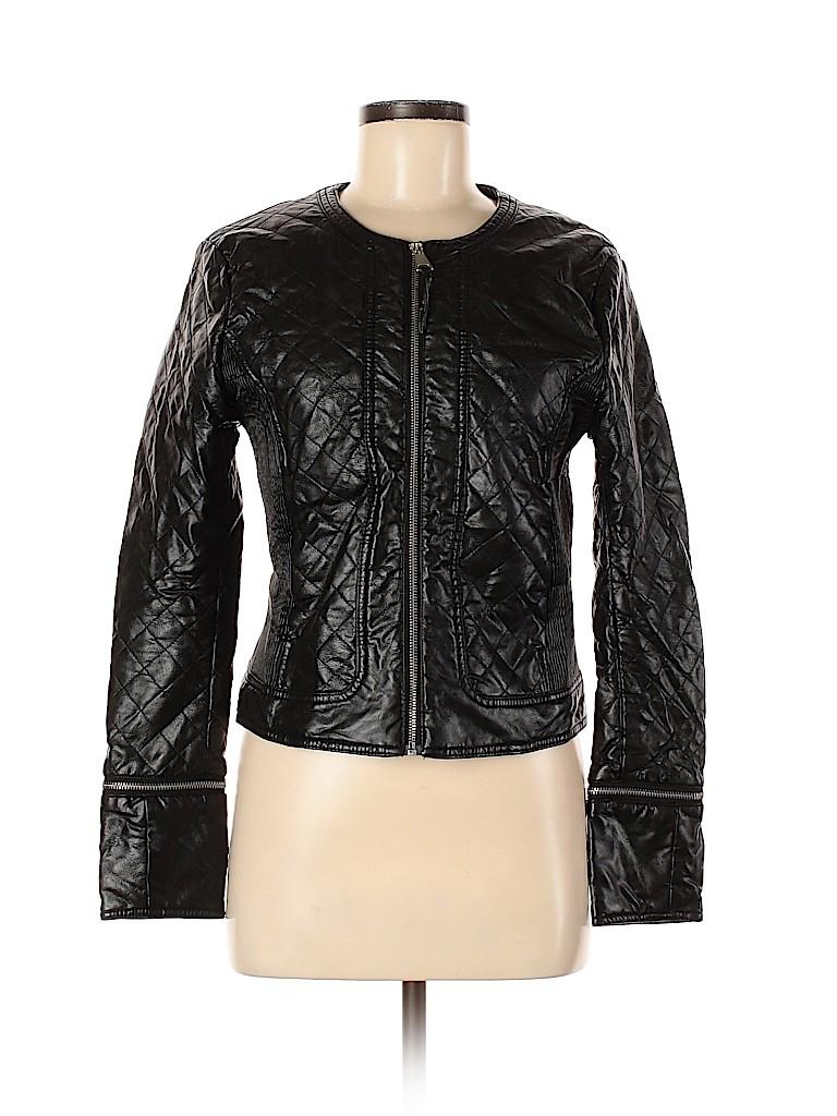 H&M Women Faux Leather Jacket Size 6