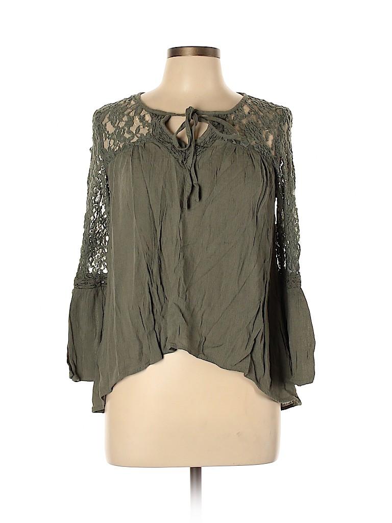 Mudd Women Long Sleeve Blouse Size L
