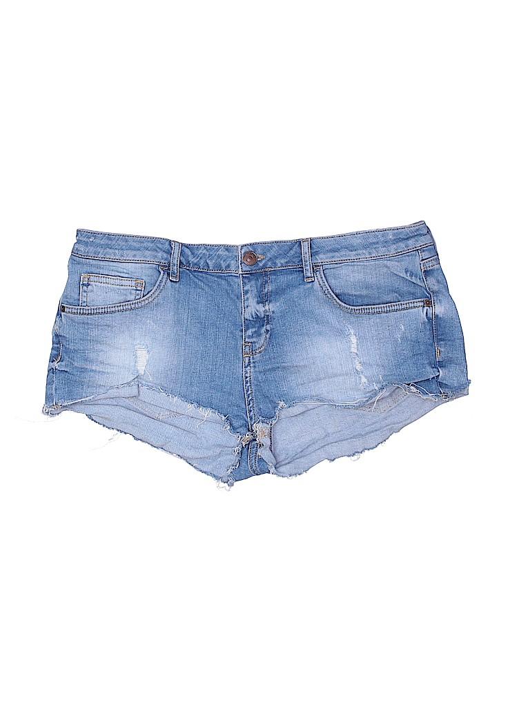 Topshop Women Denim Shorts Size 14