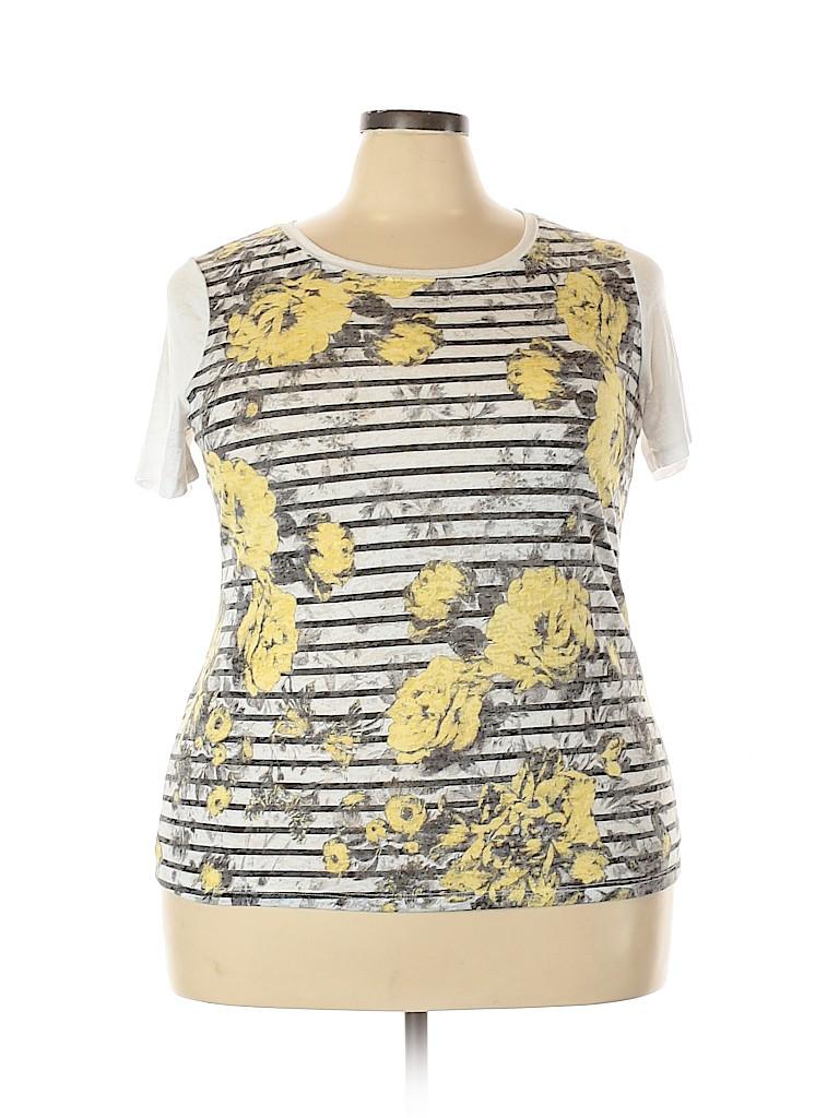 INC International Concepts Women Short Sleeve T-Shirt Size 1X (Plus)