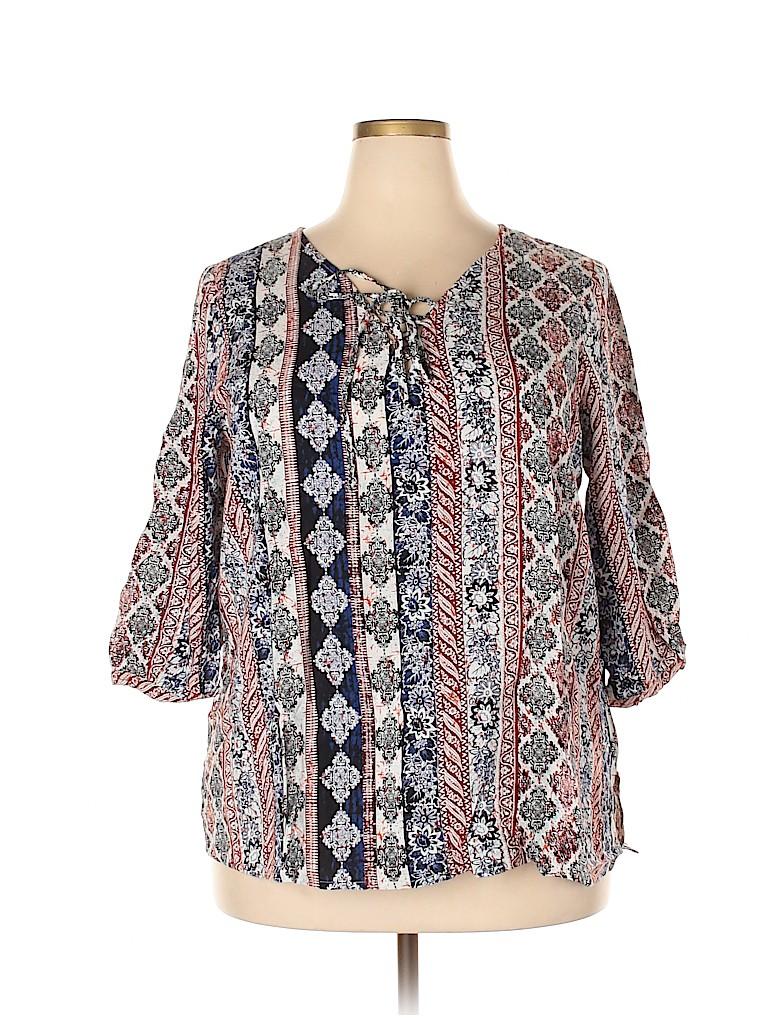 Avenue Women 3/4 Sleeve Blouse Size 18 - 20 Plus (Plus)