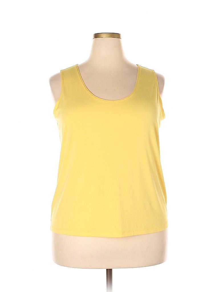 Slinky Brand Women Sleeveless Blouse Size 1X (Plus)