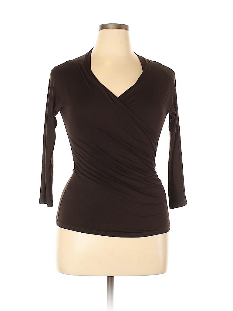 Max Mara Women Long Sleeve Top Size L