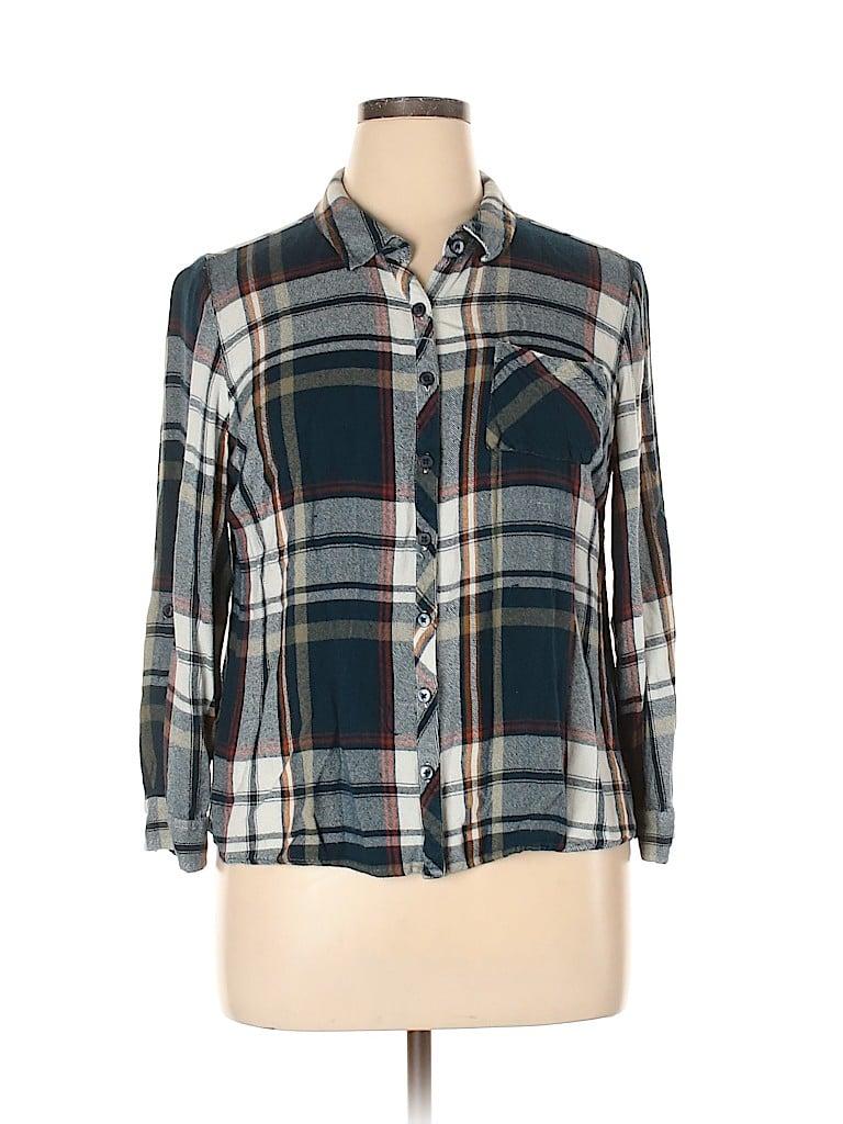 DressBarn Women Long Sleeve Button-Down Shirt Size XL