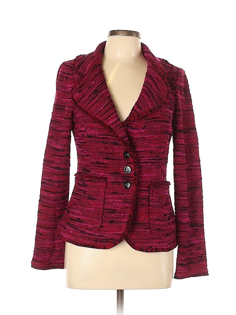 St. John Collection Women Wool Coat Size 8
