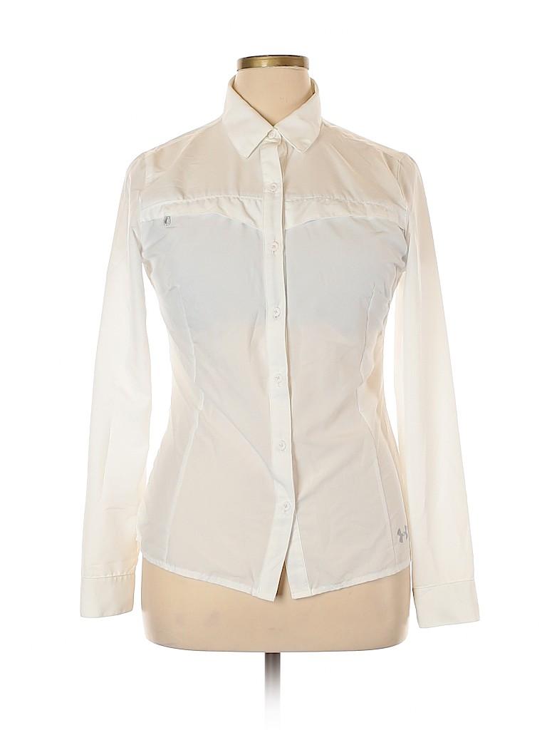 Under Armour Women Long Sleeve Button-Down Shirt Size L